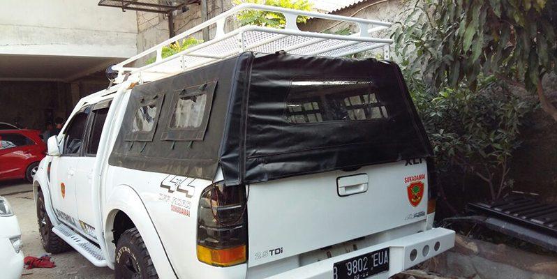 Roof Rack 4×4 + Canopy & Terpal full